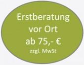 Erstberatung vor Ort ab 75,- €